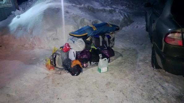 Вещи на снегу - едем в Заполярье