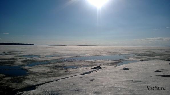 На озере Имандра - фото