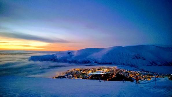 Хибины горнолыжный курорт Большой Вудъявр