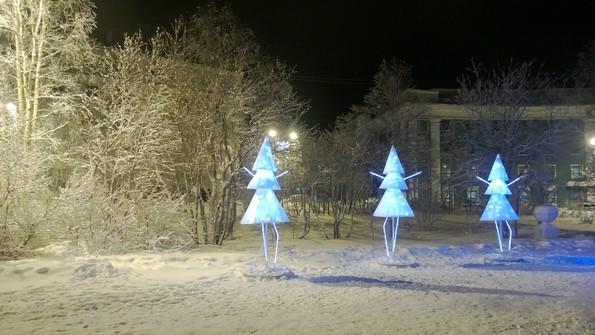Города Мурманской области: Кировск зимой