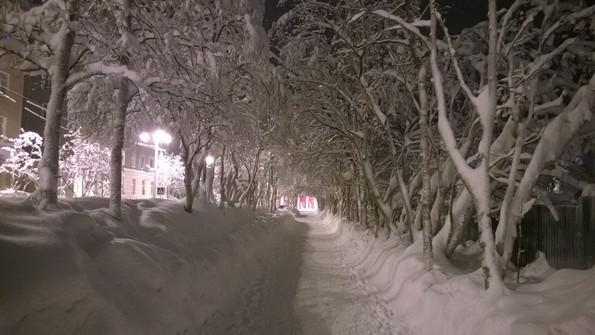 Кировск Мурманская область зимой