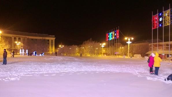 Кировск Мурманской области зимой