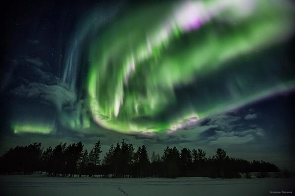 Когда можно увидеть северное сияние в Мурманске?